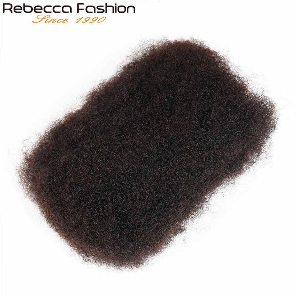 Rebecca плетение большой объем натуральных волос Remy афро кудрявый объемный 50 г/шт. монгольская причудливая завивка волос крючком для плетения афро кудрявый