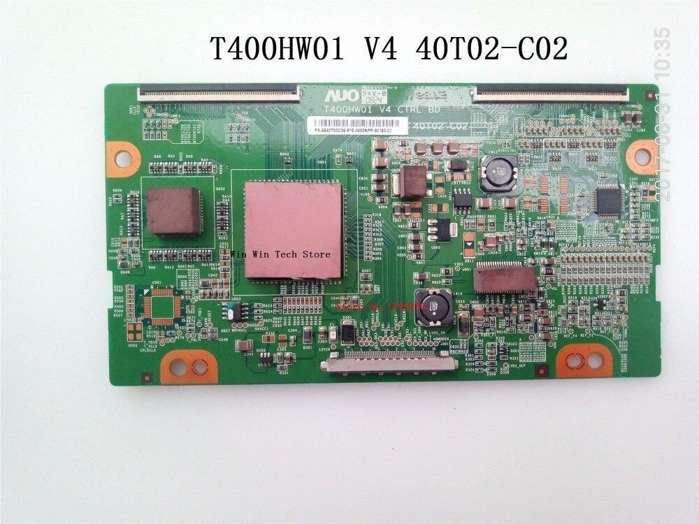 Бесплатная доставка Новый оригинальный плата логики T400HW01 V4 40T02-C02 для L40DR93 L40R1 LU40K1 40-дюймовый ЖК-дисплей ТВ T400HW01 V4 40T02-C02