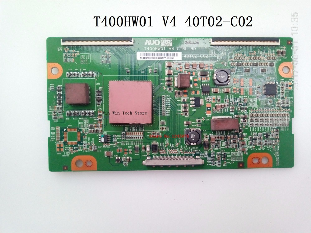 free shipping Brand new original logic board T400HW01 V4 40T02-C02 for L40DR93 L40R1 LU40K1 40-inch LCD TV T400HW01 V4 40T02-C02