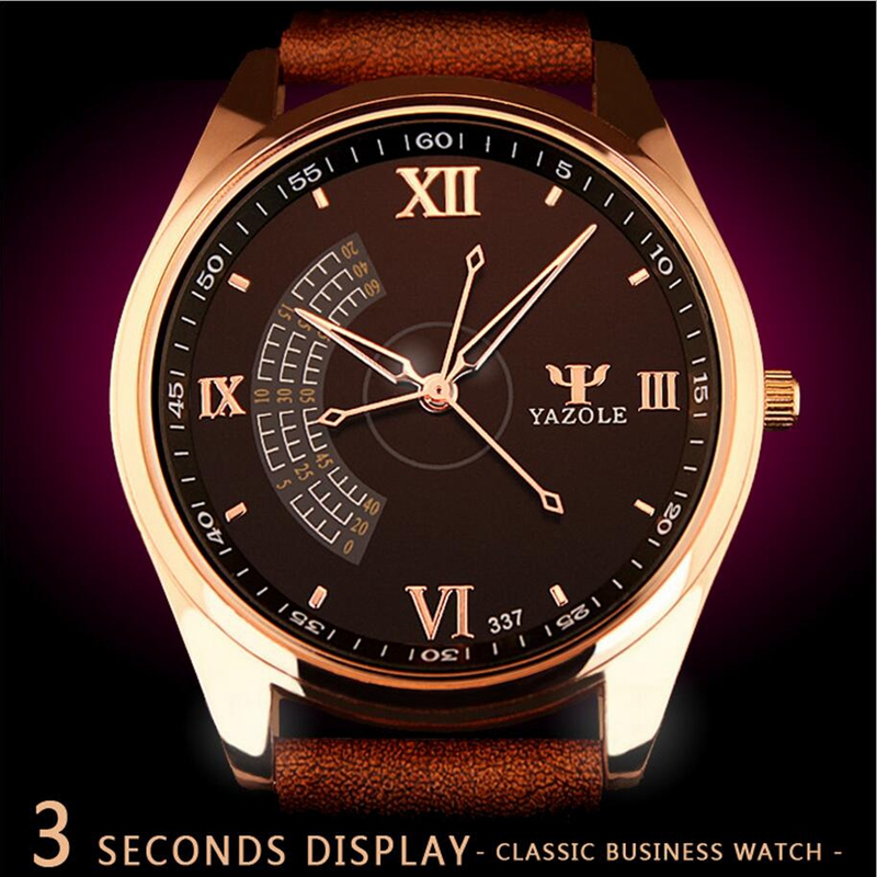 New listing Yazole Men watch Luxury Brand Watches Quartz Clock Fashion Leather belts Watch Cheap Sports wristwatch relogio male read men watch luxury brand watches quartz clock fashion leather belts watch cheap sports wristwatch relogio male pr56