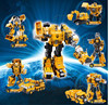 Transformation Robot Alloy Engineering Car Deformation Toy 2 In 1 Metal Alloy Construction Vehicle Truck Assembly