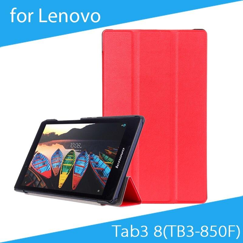 162351570  Envío libre  calor presione tres veces Pu cuero funda protectora para  Lenovo tab3 8 (tb3-850f)  tab2 a8-50f 8 pulgadas Tablets
