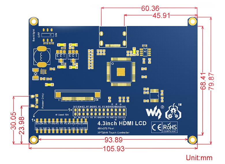 4.3inch-HDMI-LCD-size