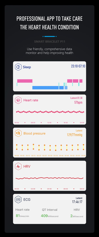 HTB11Kt0OXzqK1RjSZFvq6AB7VXaJ MKS Smartband Blood Pressure Smart Band Heart Rate Monitor PPG ECG Smart Bracelet Activity Fitness Tracker Electronics Wristband