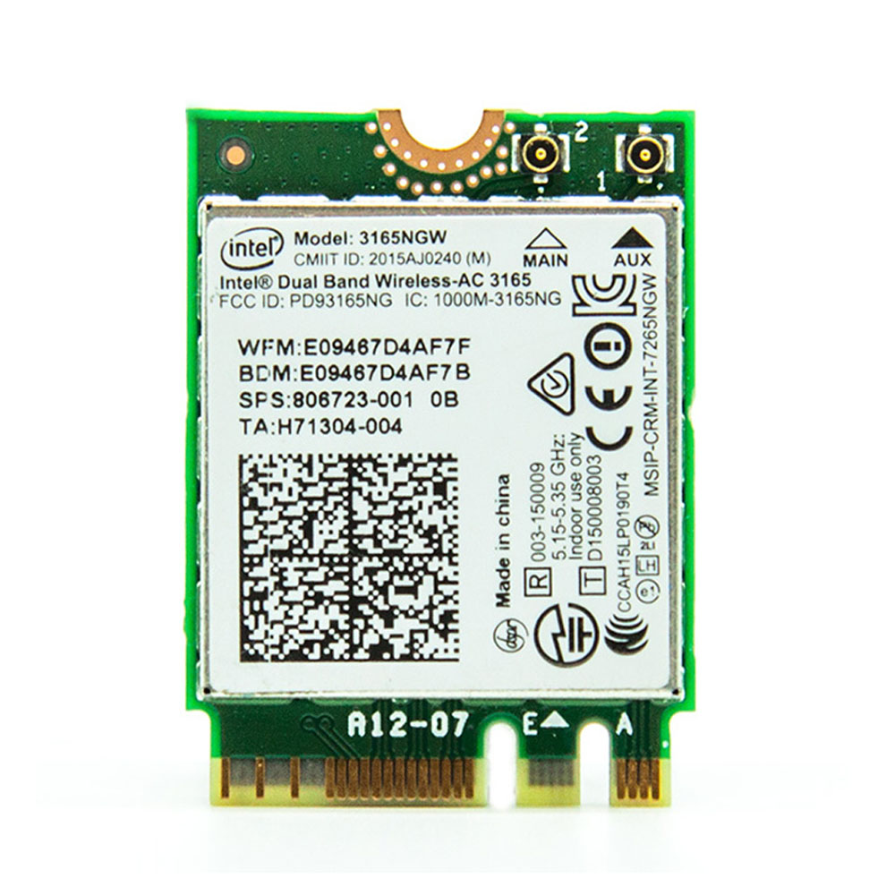 Intel Dual Band Wireless-AC 3165 <font><b>802.11ac</b></font> Wi-Fi and Bluetooth 4.0 WLAN <font><b>Module</b></font> For ProBook 430 440 450 Series,SPS 806723-001 image