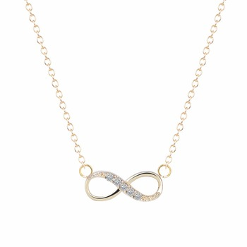 Kinitial 2pcs New Infinity Cross Crystal Dangle Bracelet Necklace Sets Bridal Wedding Party Jewelry Set Pendientes Mujer Bijoux 1
