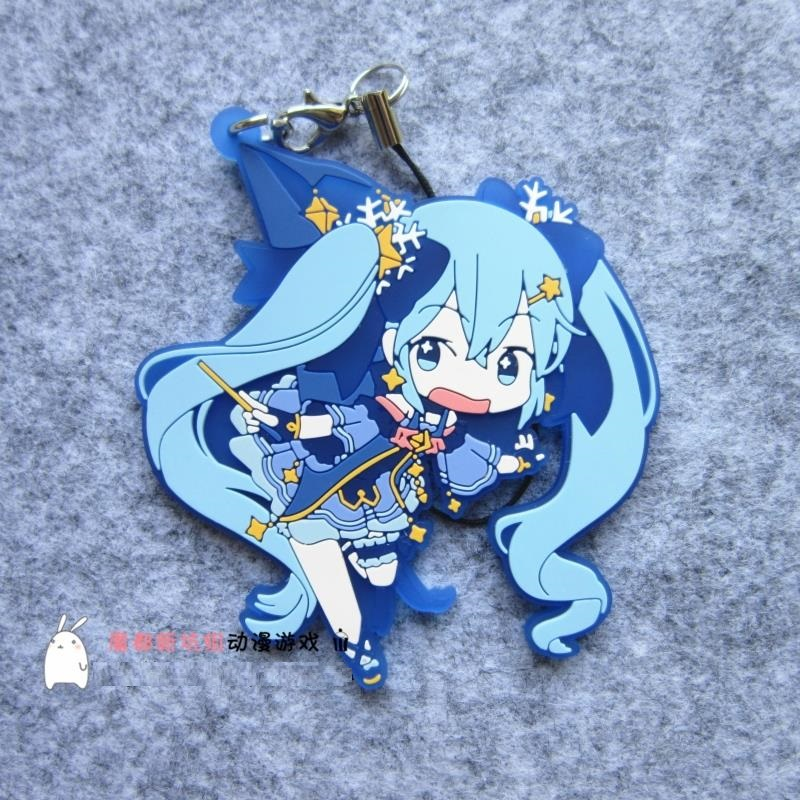 Hatsune Miku Anime VOCALOID 2016 2017 Snow Yuki Miku Japanese Rubber Keychain бордюр blau fifth avenue moldura mlv 3 5x25