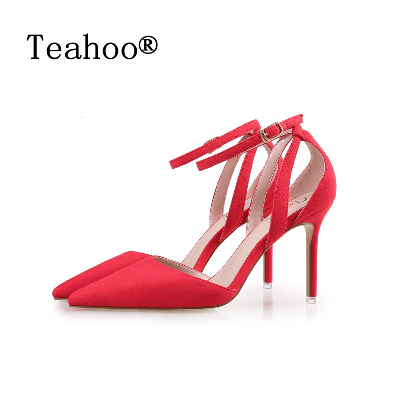 2017 Concise Nude Suede High Heels Gladiator Sandals Women Ankle Strap Summer Dress Shoes Woman Open Toe Sandals Sexy Pump Black choudory 2017 summer high heel sandal open toe glitter embellished thick heels woman shoes high quality suede ankle strap shoes