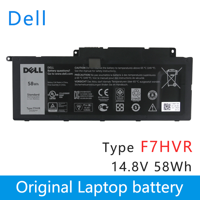 Original Laptop Battery For DELL  Inspiron 17 7000 7737 7746 14 15 15r 5545 7537 14-7437  F7HVR G4YJM 062VNH T2T3J  14.8V 58Wh
