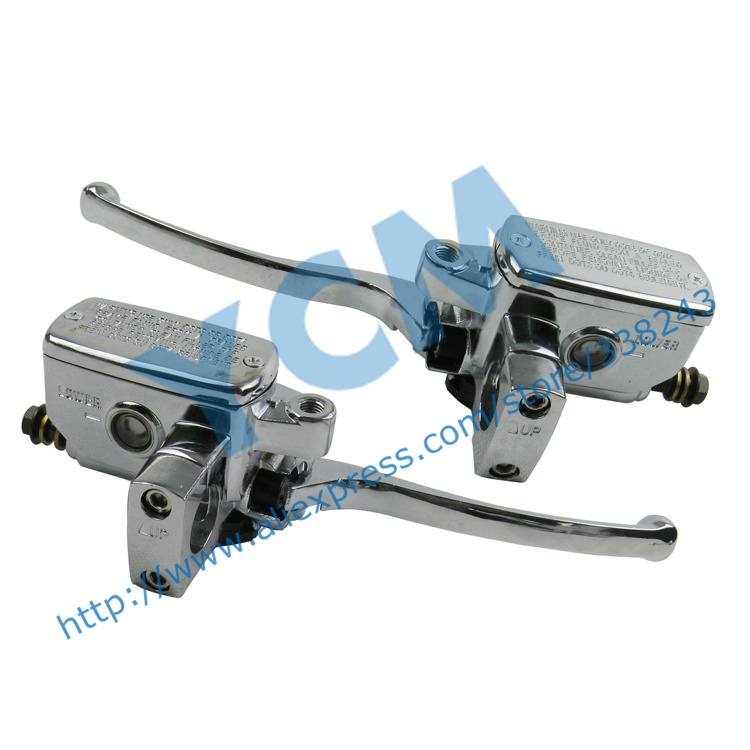 ФОТО Chinese Scooter And Electric Motorcycle Disc Pump Front and Rear Disc Brakes Pump Left and Right SET Scooter Parts DGW-SB