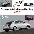 3 in1 Специальный Камера Заднего Вида + Беспроводной Приемник + зеркало Монитор Резервного Копирования Система Парковки Для TOYOTA Avensis T250 T270 2003 ~ 2014