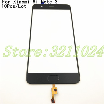 """10Pcs/Lot 5.5"""" For Xiaomi Note 3 Mi Note 3 Touch Panel Digitizer Outer Glass Lens With Fingerprint Key Flex Cable For Mi Note 3"""