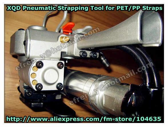 Гарантия 1 год XQD-19 (натяжение: 3000N) Воздушный Пневматический ПЭТ/пластиковый Натяжной уплотнительный режущий обвязочный инструмент для поддон для бумаги 13-19 мм