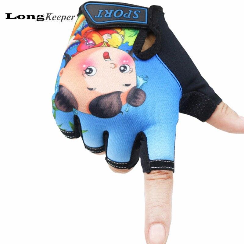 Longkeeper Leuke 5-13 Jaar Kids Handschoenen Vingerloze Kinderen Sport Handschoenen Chinese Stijl Geluk Pop Jongens Meisjes Cartoon Luvas G191