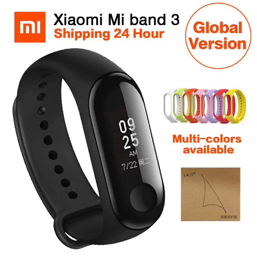 Globale Version Xiao mi mi band 3 mi Band 3 Armband Fitness Tracker Heart Rate Monitor 0,78 ''OLED Bluetooth 4,2 Für Android IOS