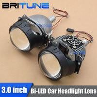 3.0 inch Bi LED Projector Lenses For Auto Cars Headlight Retrofit H1 H4 H7 9005 9006 LED Headlamp DIY Style Assembly 5500K Color