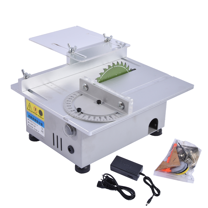 New Miniature High Precision Table Saw DC 24V 7000RPM Cutting Machine DIY Model Saws Precision Carpentry Chainsaw 100W 1.5 10mm