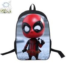 16 Inch Deadpool Backpack Customized Marvel Travel Backpack Mochila Children School Bag Mochila Escolar Kids Free Shipping A164