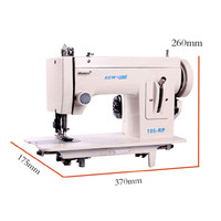 Portable Walking Foot Zigzag Stitch 9'' arm sewing machine/leather sewing machine/heavy duty sewing machine/same as Sailrite