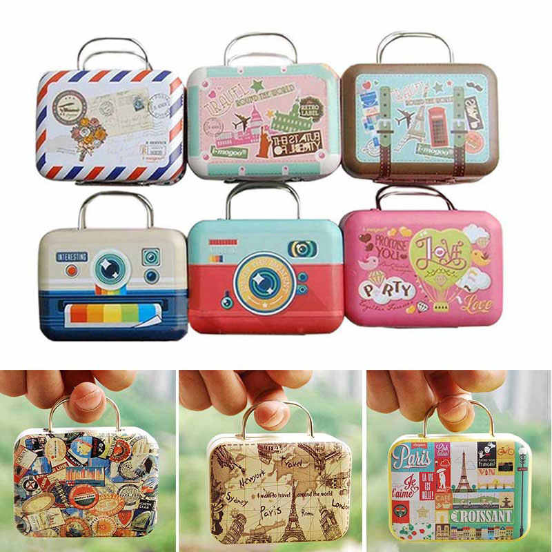 Mini Trunk Toy Miniatura Dollhouse Scene Accessories Dollhouse Miniature Suitcase Pocket Furniture DIY Doll House Kit 1:6 Random