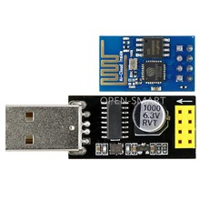 OPEN-SMART USB to ESP-01 Adatper + Blue ESP-01 ESP8266 Wi-Fi Wireless Module Easy to Debug ESP-01 Wi-Fi Function for Arduino