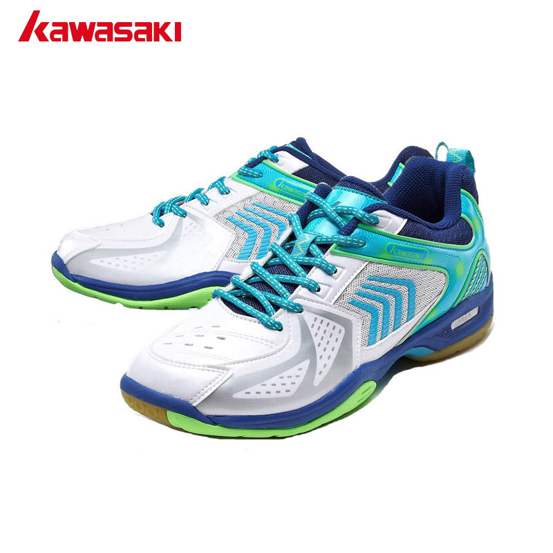 Professional Kawasaki Brand Badminton Shoes for Men Breathable Anti-torsion Wear-resistance Rubber Sports Sneakers Women K-138 professional brand kawasaki badminton shoes 2017 sport sneakers for men women anti slippery pvc floor sports shoe k 065 k 066