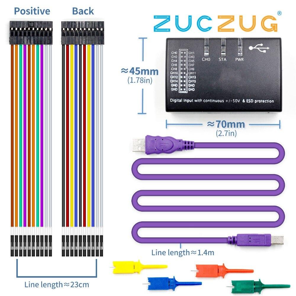 New USB Logic 100MHz 16Ch Logic Analyzer for ARM FPGANew USB Logic 100MHz 16Ch Logic Analyzer for ARM FPGA