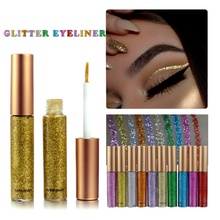 Professional Glitter Cosmetics 7 Color Waterproof Shimmer Pigment Silver Gold Metallic Liquid Glitters Eyeliner Makeup