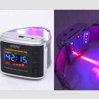 LLLT двойной цветной акупунктурный терапевтический холодный лазерный акупунктурный массажер сердечно сосудистый сахар в крови наручные час