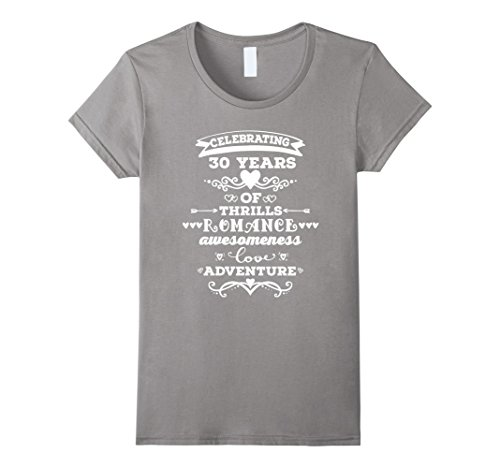 Wedding Anniversary Gifts 30 Years: 30th Wedding Anniversary T Shirt 30 Years Together Gift