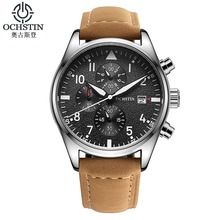 Reloj de los hombres Mens de la Marca de Lujo Del Deporte Reloj de Cuarzo Relogio dos homens Dermis moda pequeño de tres pines reloj cronógrafo 2016
