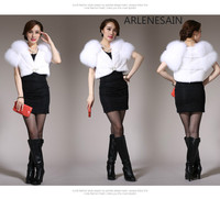Arlenesain custom mink fur mink female fox fur short sleeve shawl new autumn and winter women sleeveless vest