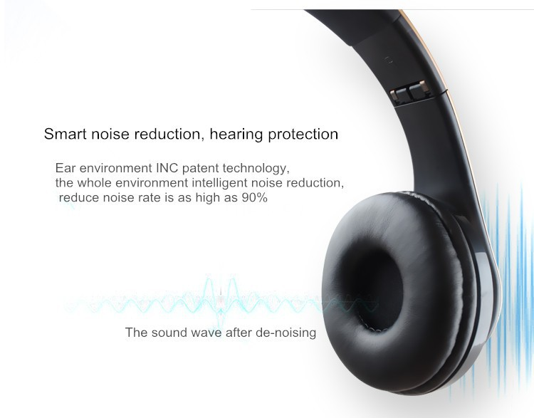 Wireless Bluetooth Headphones Portable Mp3 Player Earphone For Iphone Samsung Xiaomi Bests Studio Use Stereo Headset Support SD Card (6)