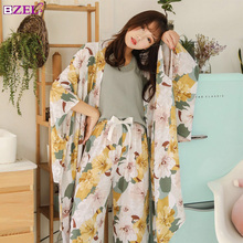 春秋の女性パジャマ服 4 ピースセット女性のパジャマは nightsuit パジャマセットレジャー花 pijamas ホームウェア
