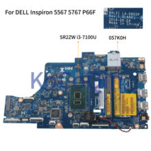 Kocoqin Motherboard Laptop Dell Inspiron 5567 5767 P66F Inti I3-7100U Mainboard BAL21 LA-D802P CN-057K0H 057K0H SR2ZW(China)