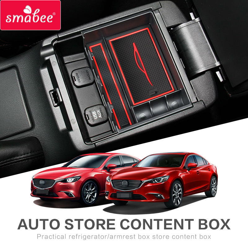Armrest Box Storage For MAZDA 3 mazda5 AXELA ATENZA Center Console Armrest Storage Box Interior Accessories Stowing Tidying