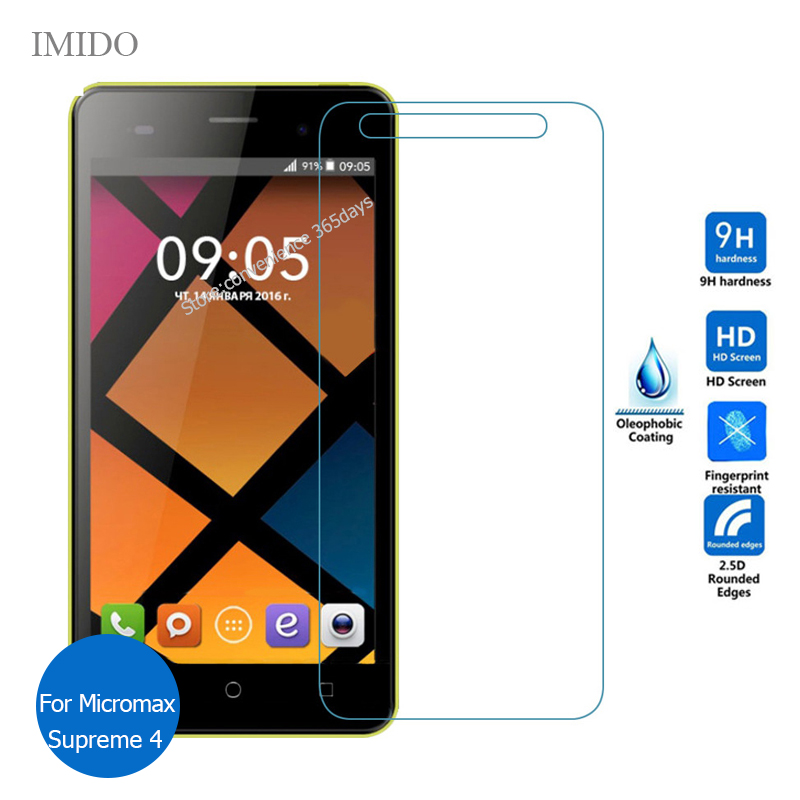 For Micromax Bolt Supreme 4 Q352 Tempered Glass Screen Protector 2.5 9h Safety Protective Film on Supreme4 Plus 4+ Q 352