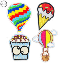 4pcs/set Embroidered Patch Clothes Stickers Cartoon Iron on Patches for Clothing Children DIY Patchwork Kid Applique Badges 2 pieces car embroidered patch iron on clothes stickers ironing patches for clothing cap children cartoon badges applique diy