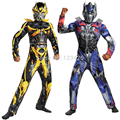 Halloween Children Boys Transformers Costumes Optimus Prime Bumblebee Cosplay ( Jumpsuit + Mask)
