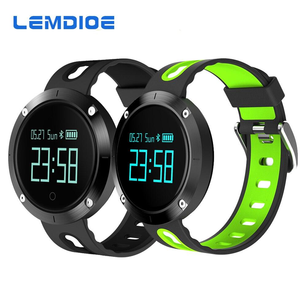 LEMDIOE T1 Bluetooth Smart Band Support Heart Rate Blood Pressure Monitor Fitness Tracker Smart Bracelet wristband