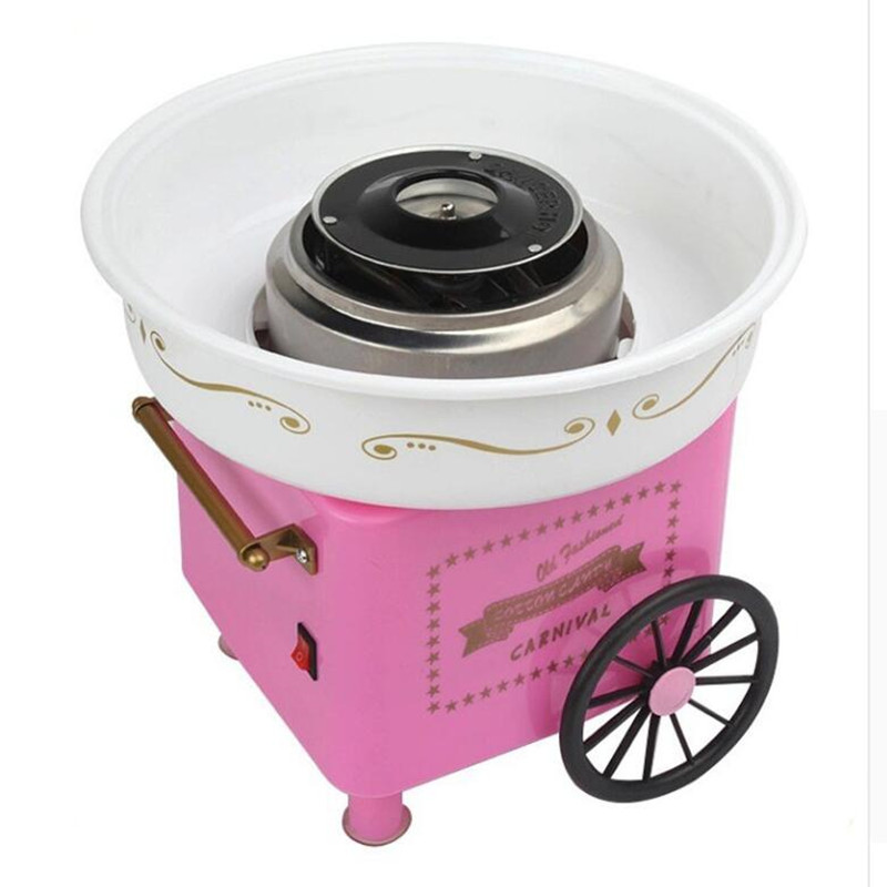 Hot sale cotton candy maker household cotton candy machine floss maker pink color candy floss machine candy color calabash shaped cosmetic makeup cotton pads sponge puff pink