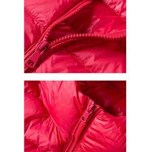 Image 5 - Winter Women Ultra Light Down Jacket 90% White Duck Down Hooded Jackets Warm Coat Parka Female Portable Outwear Windbreaker