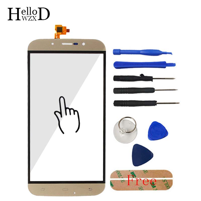 5.5inch Black Gold  TouchGlass Front High For UMI ROME UMI ROME X Touch Screen Touch Digitizer Panel Glass Free Adhesive