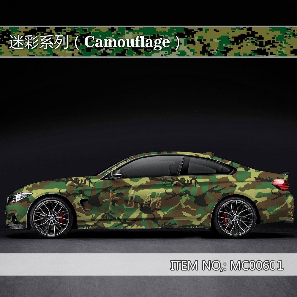 Camouflage personnalisé autocollant de voiture bombe Camo Enveloppe de Vinyle De Voiture Wrap Avec Air Sortie flocon de neige bombe autocollant De Voiture Corps StickerMC006