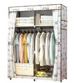 Non-woven Reinforced Steel Frame Easy Disassembly Combination Wardrobe Storage Folding