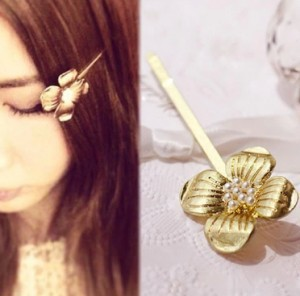 Han edition hair Pearl four petals small clip hairpin edge clip a word, free home delivery han edition hair pearl four petals small clip hairpin edge clip a word free home delivery