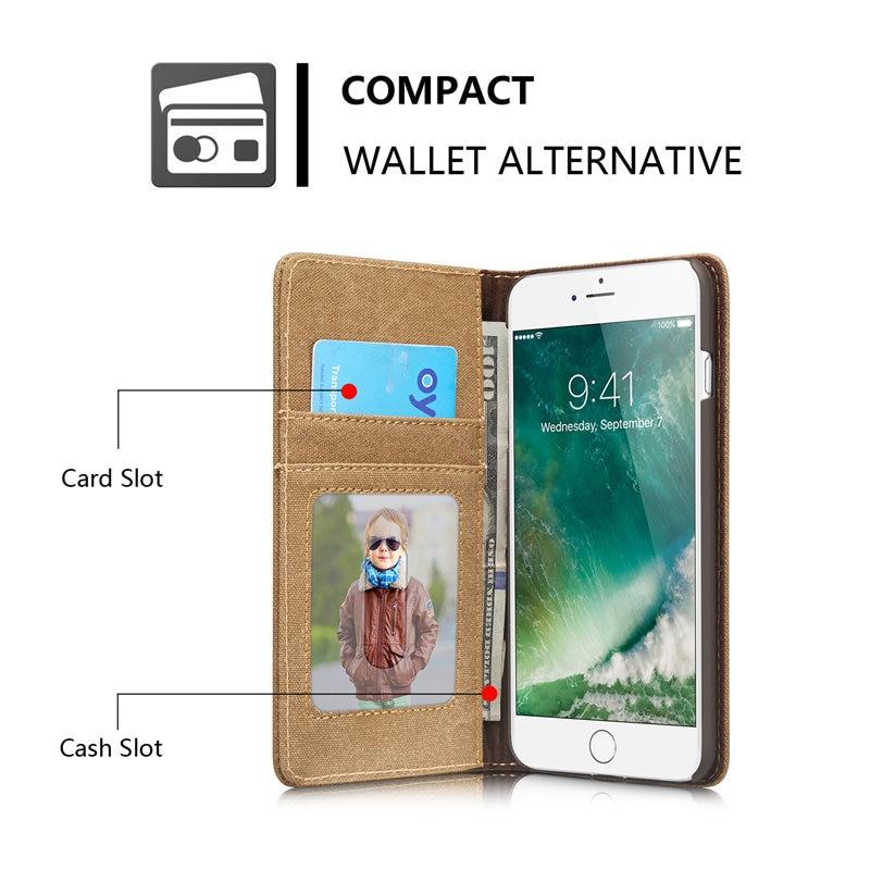 Για Apple iPhone 7 Κάλυμμα θήκης Magnetic Denim Canvas - Ανταλλακτικά και αξεσουάρ κινητών τηλεφώνων - Φωτογραφία 2