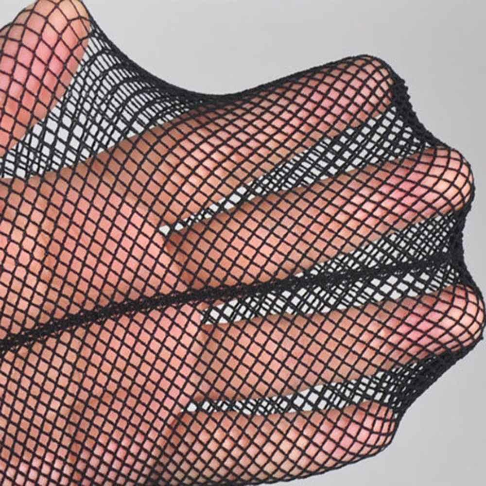 Celana Ketat untuk Wanita Seksi Satu Desain Garis Busur Stoking Jala Wanita Belakang Garis Tato Pantyhose Wanita Fishnets Kaus Kaki