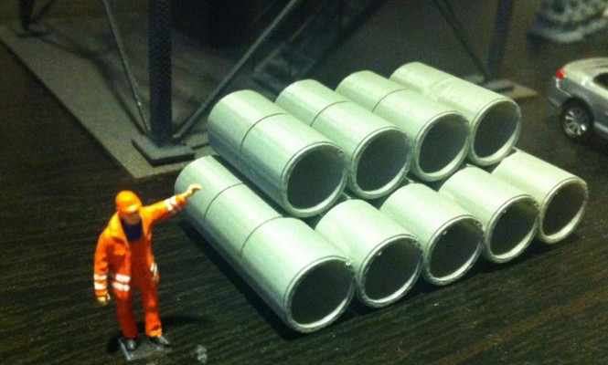 1/87 Model cement pipe diy architectural material sand table model materials Free Shipping