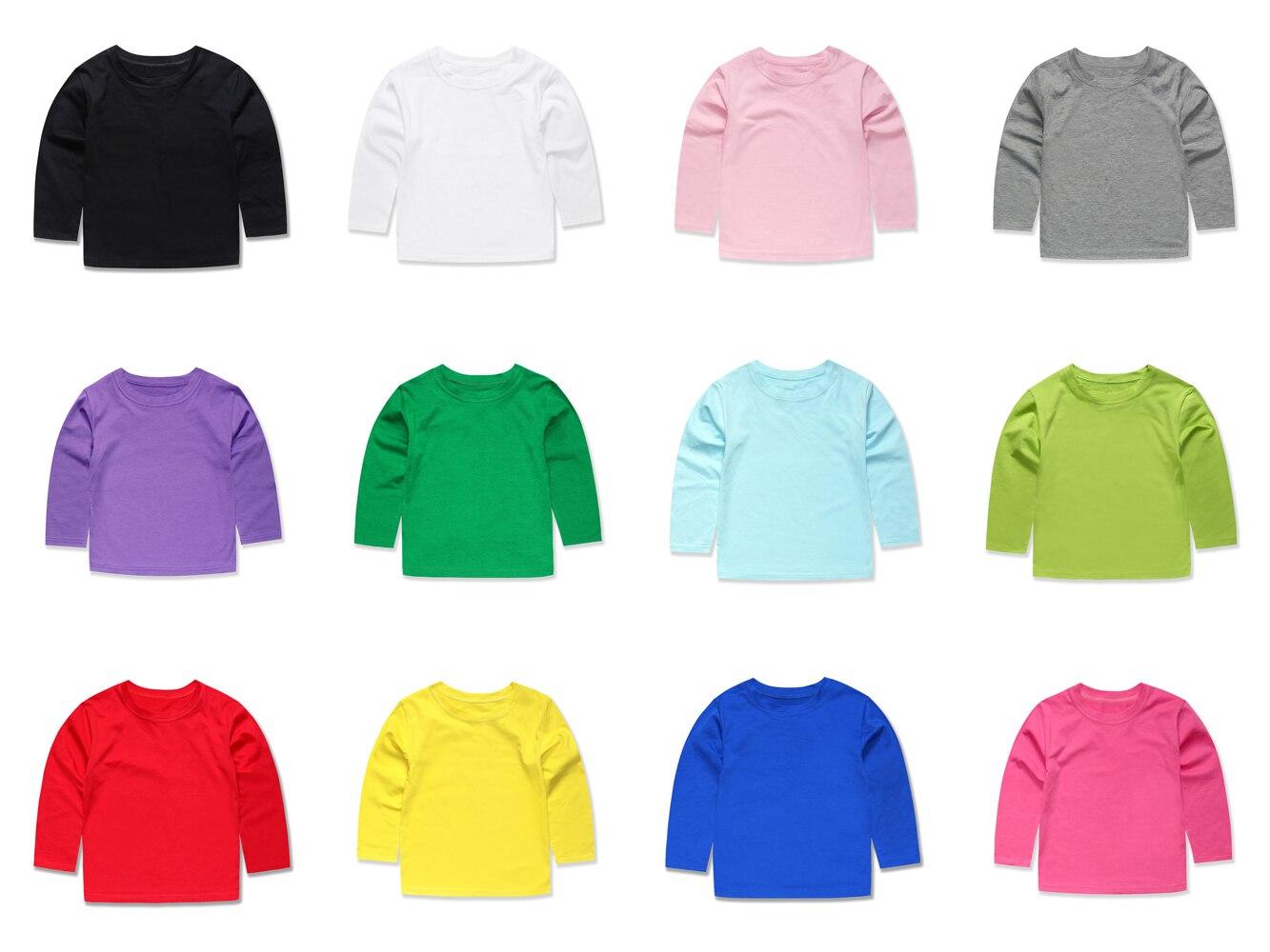 100% QualitäT 2018 Sommer Mode Jungen Mädchen Volle Hülse Plain T Shirts Kinder T-shirts Kinder Solide Tees Mädchen Tops Für 2- 14 Jahre Hoher Standard In QualitäT Und Hygiene